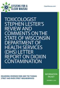 letter and comments from toxicologist stephen lester
