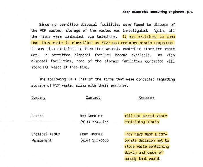 eders document regarding waste storage and disposal