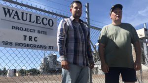two citizens for a clean wausau volunteers by wauleco fence