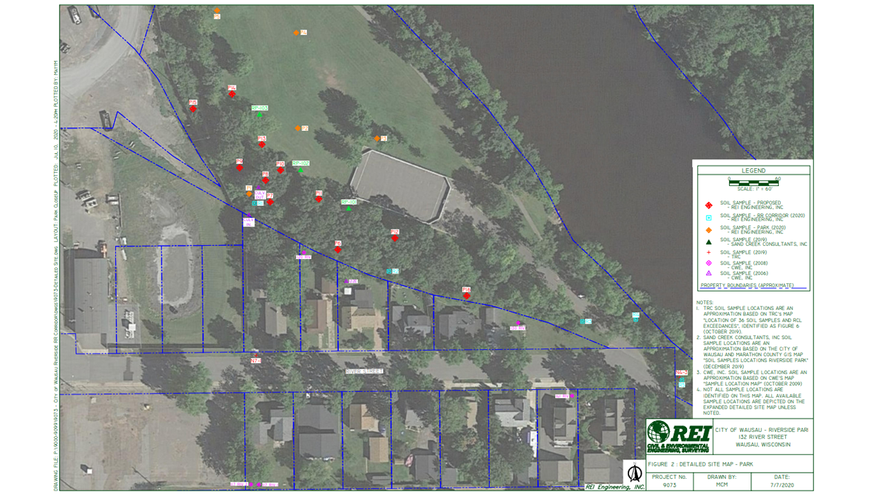 riverside park dioxin sampling locations