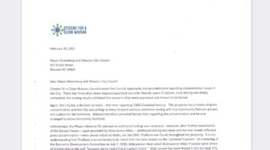 ccw letter submitted to city of wausau department of natural resources dnr copied 1300 cleveland avenue wausau